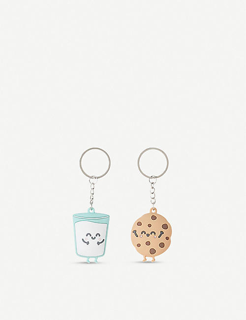 MR WONDERFUL Milk and Cookies set of 2 keyrings