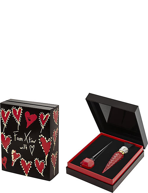 CHRISTIAN LOUBOUTIN Rouge Louboutin Loubilaque Lip Lacquer and Nail Colour gift set