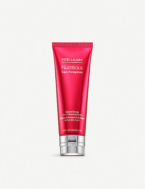ESTEE LAUDER Nutritious Super-Pomegranate Radiant Energy 2-in-1 Cleansing Foam 125ml