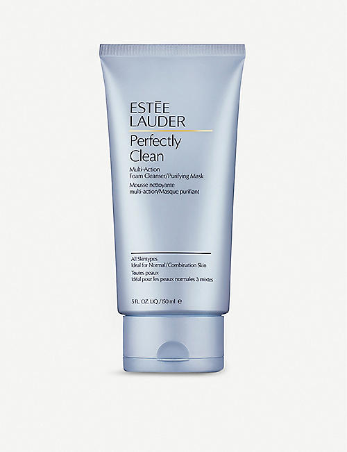 ESTEE LAUDER: Perfectly Clean Foam Cleanser/Purifying Mask 150ml