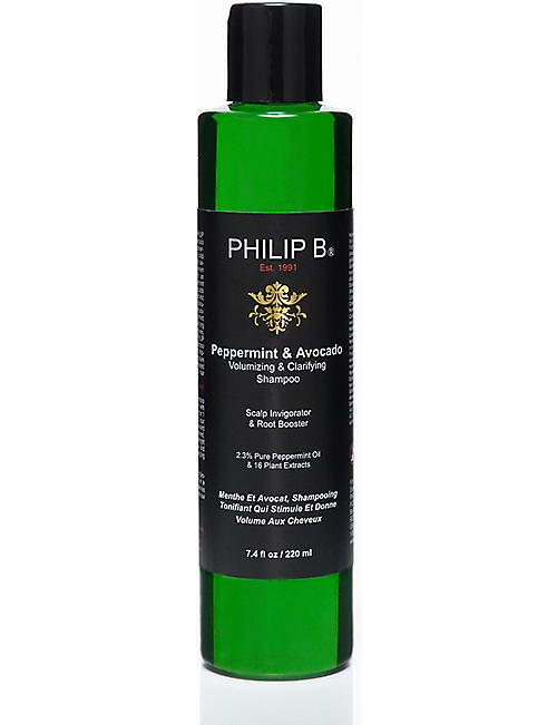 PHILIP B: Peppermint and Avocado volumizing & clarifying shampoo 220ml