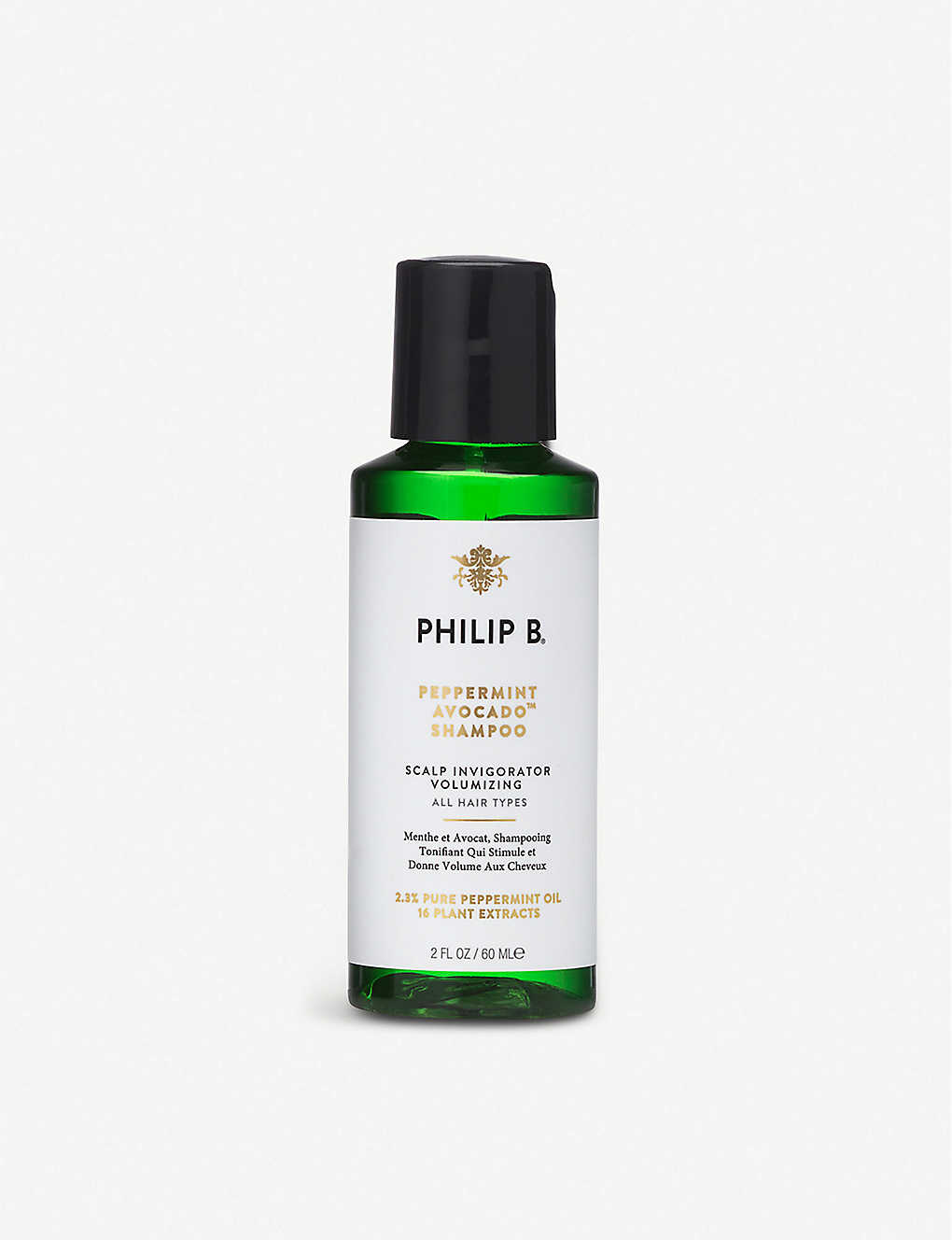PHILIP B: Peppermint and Avocado shampoo 60ml