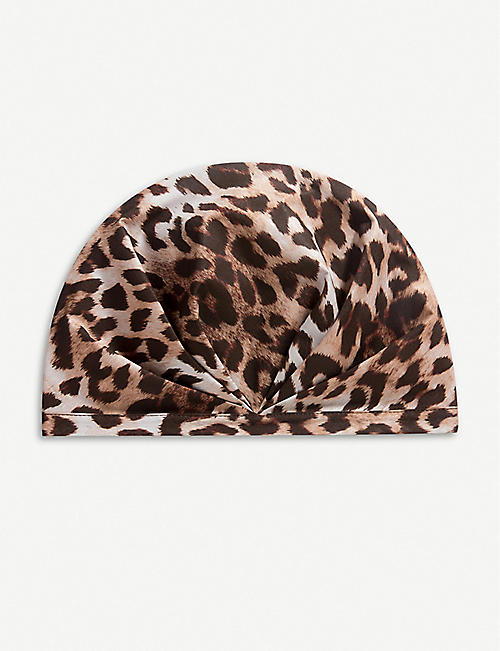 SHHHOWERCAP The Minx leopard-print showercap