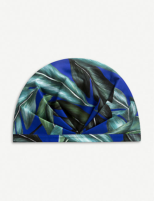 SHHHOWERCAP The Pari leaf-print shower cap