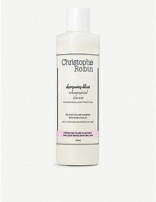 CHRISTOPHE ROBIN: Delicate Volumising Shampoo with Rose Extracts 250ml