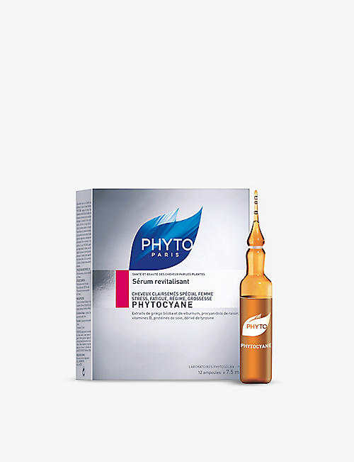 PHYTO Phytocyane revitalising serum for thinning hair - women 12x7.5ml