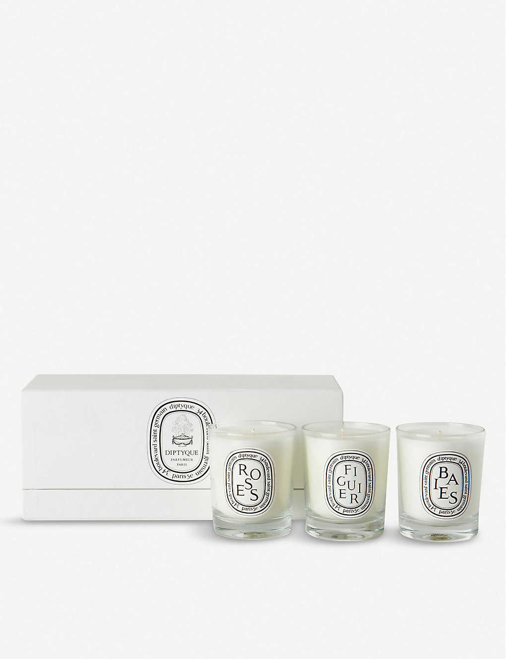 DIPTYQUE   Baies, Figuier and Roses mini candles 20 x 20g ...
