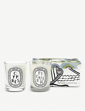 DIPTYQUE Figuier and Cypres scented candle set of two