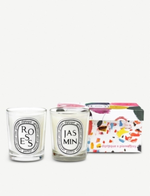 DIPTYQUE Rose and Jasmine scented candle set of two