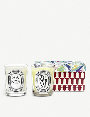DIPTYQUE Tubereuse and Santal scented candle set of two