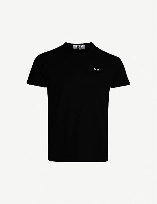 f7ecd3369 COMME DES GARCONS PLAY Heart-appliqué cotton-jersey T-shirt