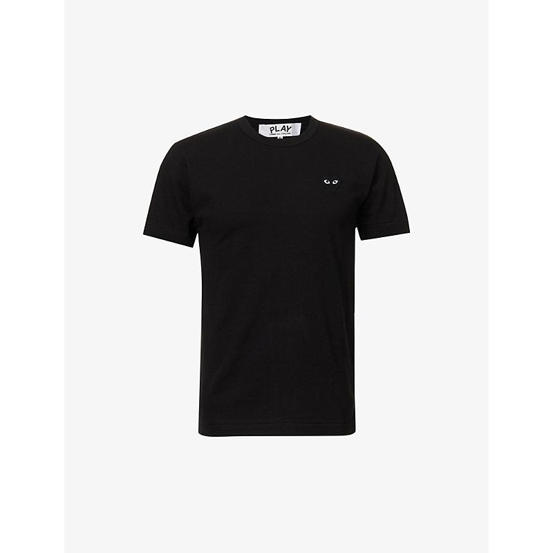 COMME DES GARÇONS PLAY | Heart-Appliqué Cotton-Jersey T-Shirt | Goxip