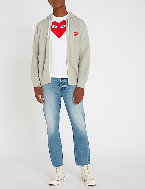 94e3cc079f COMME DES GARCONS PLAY Heart Eye cotton-jersey T-shirt · Quick Shop