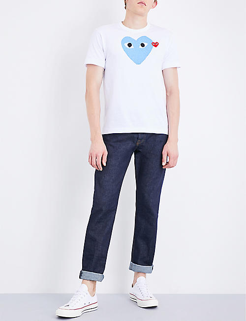 COMME DES GARCONS PLAY Heart-logo cotton-jersey T-shirt