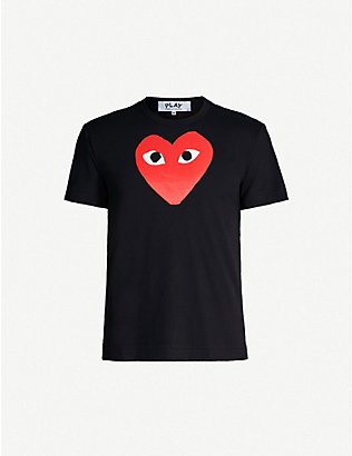 COMME DES GARCONS PLAY: play heart cotton t-shirt