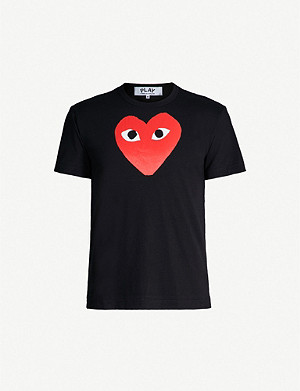 COMME DES GARCONS PLAY play heart cotton t-shirt