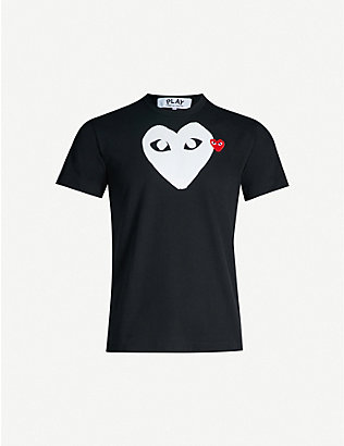 COMME DES GARCONS PLAY: Heart-logo cotton-jersey T-shirt