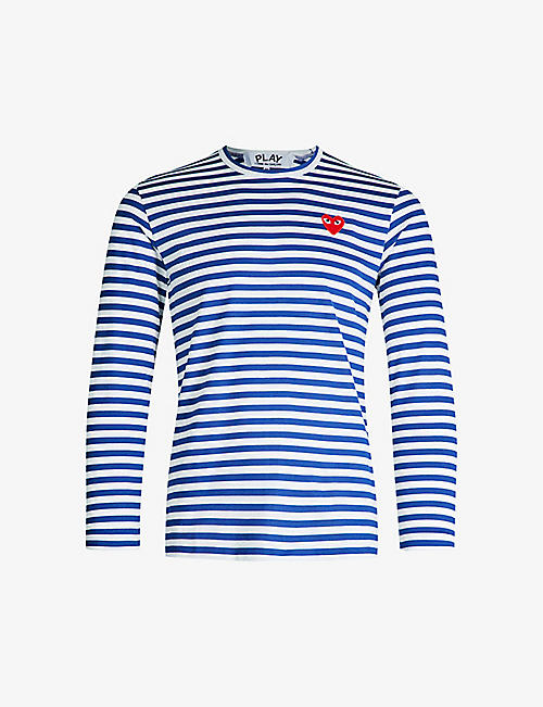 c698e6193aedb5 COMME DES GARCONS PLAY Striped cotton-jersey top