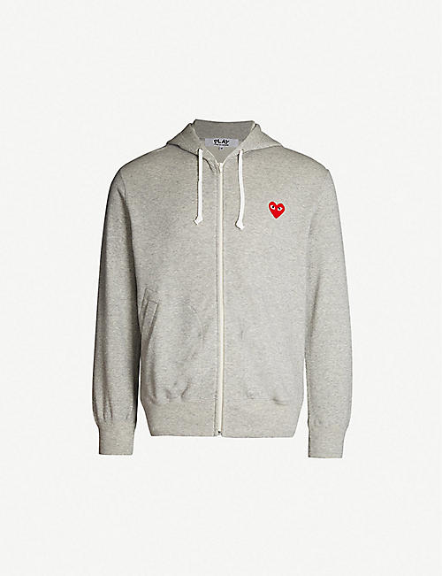73ea6009c0 COMME DES GARCONS PLAY Logo-embroidered cotton-jersey hoody