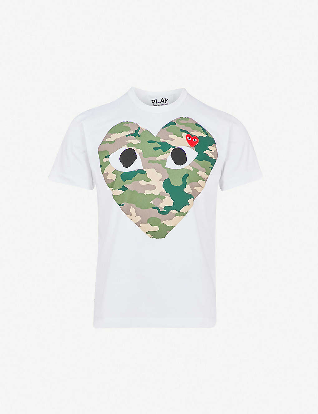 388281704f46 COMME DES GARCONS PLAY - Big heart camouflage cotton-jersey T-shirt ...