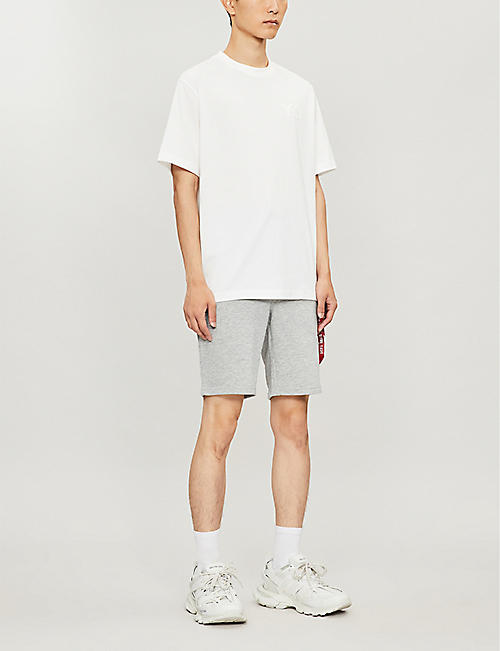 ALPHA INDUSTRIES Relaxed-fit straight cotton-jersey shorts