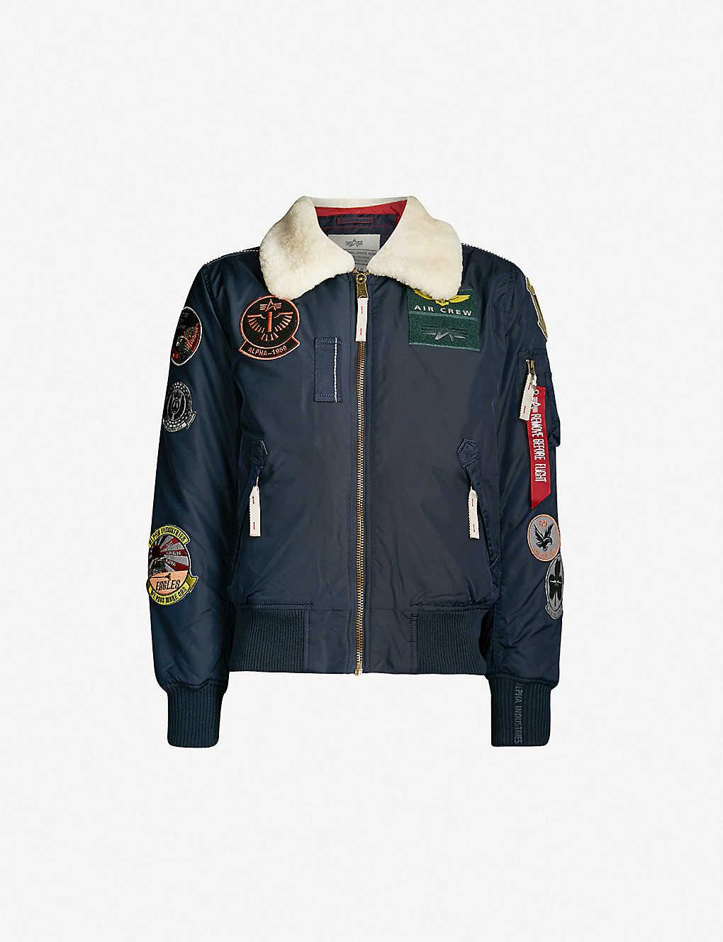 8d28d6424 ALPHA INDUSTRIES - Injector III shell bomber jacket | Selfridges.com
