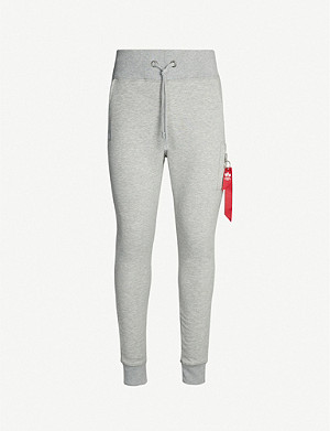 ALPHA INDUSTRIES Skinny cotton-jersey jogging bottoms