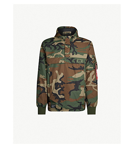 separation shoes 265e0 15825 ALPHA INDUSTRIES - Camouflage-print shell hooded jacket ...