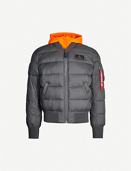 ALPHA INDUSTRIES Padded shell-down hooded jacket