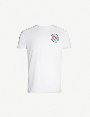 ALPHA INDUSTRIES Graphic-back cotton-jersey T-shirt