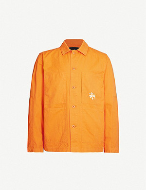 STUSSY Graphic-print cotton-drill jacket