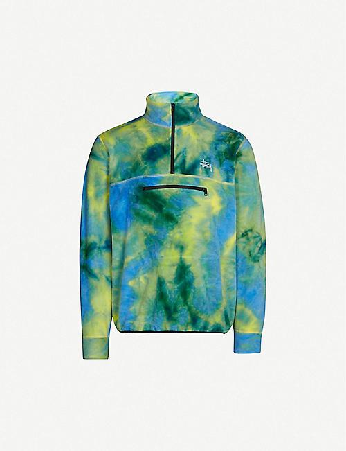 STUSSY Tie-dye fleece sweatshirt b00fdaa295e
