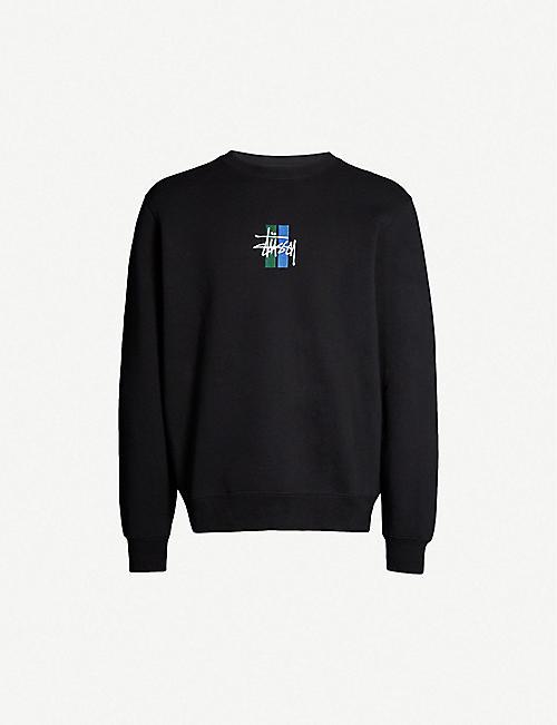 755d715dc45b2 STUSSY 2 bar stock applique cotton-blend sweatshirt