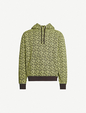STUSSY Graphic-print cotton-jersey hoody