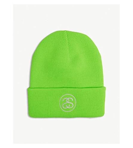 7996516042f STUSSY Logo beanie (Green