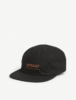 5b3aeaf7544 STUSSY - Stock logo twill low-profile strapback cap