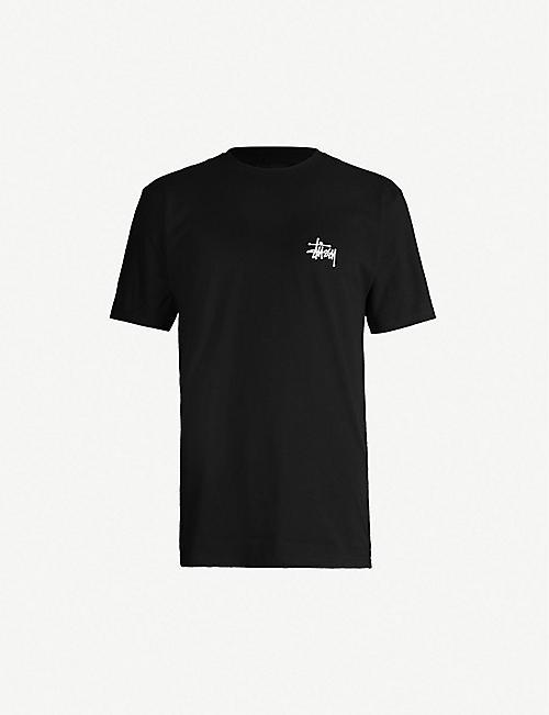 STUSSY Logo-print cotton-jersey T-shirt ebd849a8c405