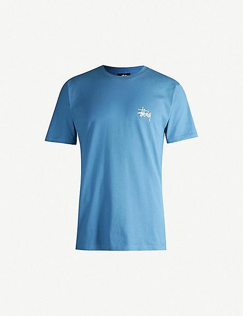 STUSSY Logo-print cotton-jersey T-shirt 410c4c9e833