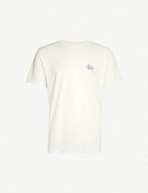 1989391869c STUSSY Logo-print cotton-jersey T-shirt