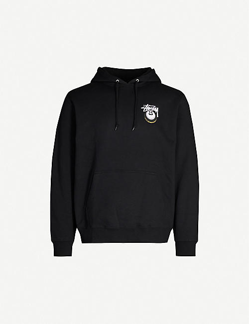 STUSSY Cobra 8 cotton-blend hoody