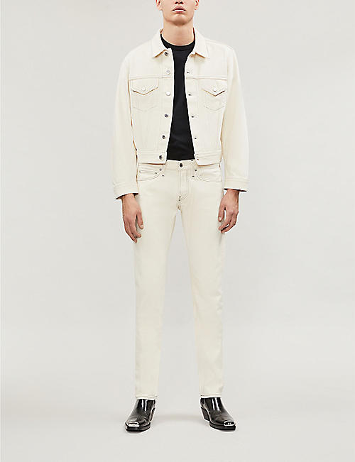 HELMUT LANG Contrast-stitching straight mid-rise jeans
