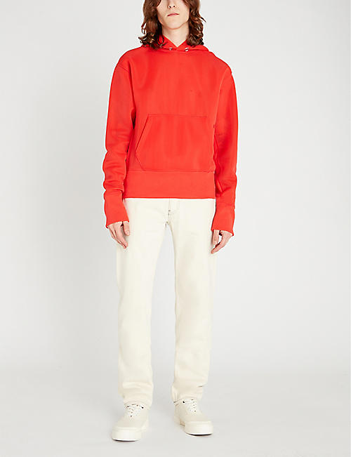 HELMUT LANG Logo-embroidered stretch-jersey hoody