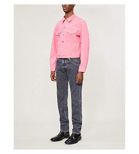 Helmut Lang Jackets Colour-blocked stretch-denim trucker jacket