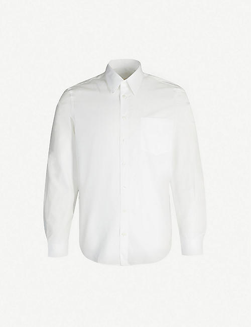 HELMUT LANG Patch detail regular-fit cotton shirt