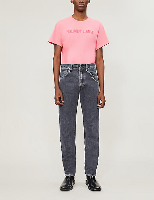 HELMUT LANG Embroidered logo cotton-jersey T-shirt