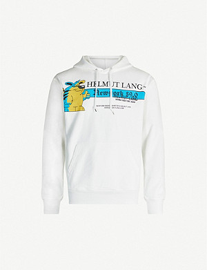 HELMUT LANG Cartoon-print cotton-jersey hoody