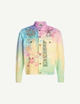 RYAN HAWAII Tie-dye denim jacket