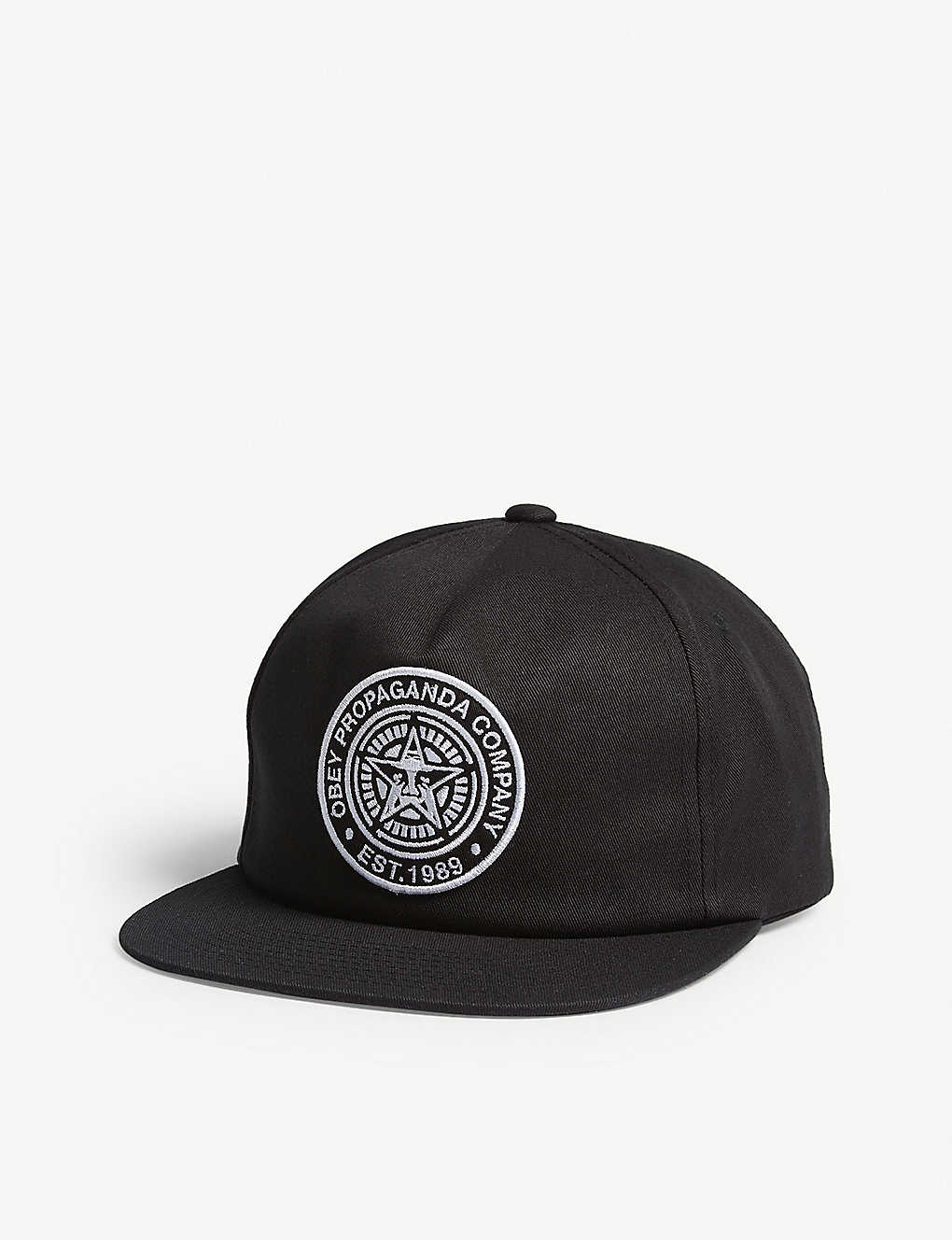 low priced 0e2db 078b4 OBEY Logo patch snapback cap