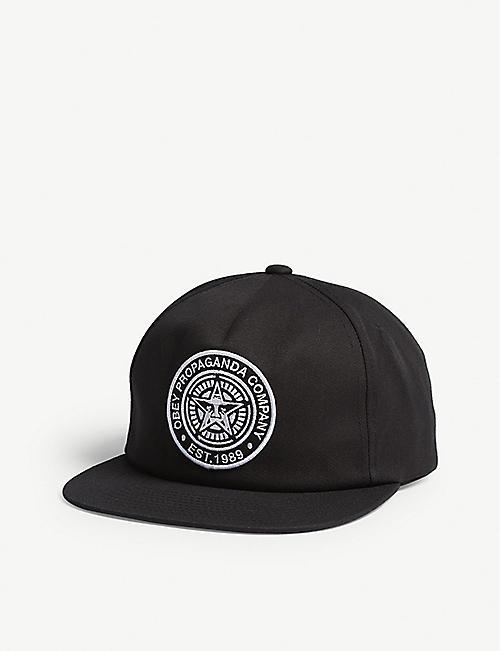 fa050509ea642 OBEY - Logo patch snapback cap