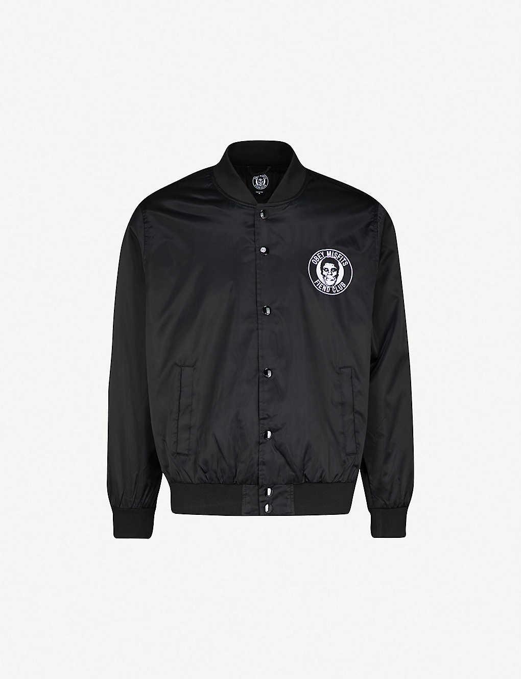 ce2f4abb5 OBEY - OBEY x Misfits Fiend Club patch satin-shell jacket ...
